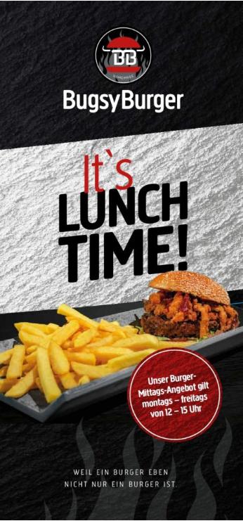 Bugsy Burger Mittagsmenü